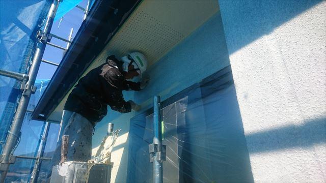 飯田市大瀬木外壁塗装中塗り1