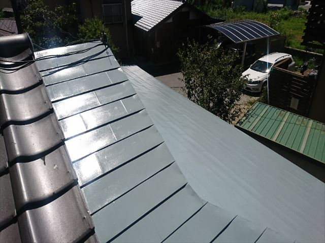 飯田市黒田数寄屋屋根塗装完成