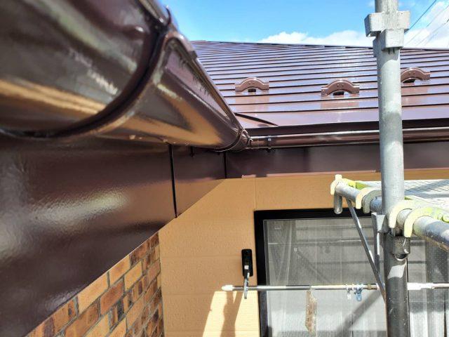 下伊那郡松川町の【遮熱塗料】を使った外壁屋根塗装工事-4.付帯部塗装