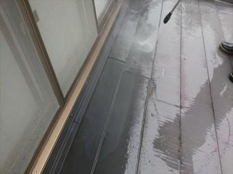 飯田市上村金属屋根壁洗浄4