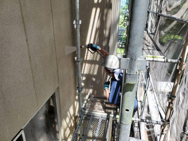 伊那市_屋根塗装工事_外壁洗浄1