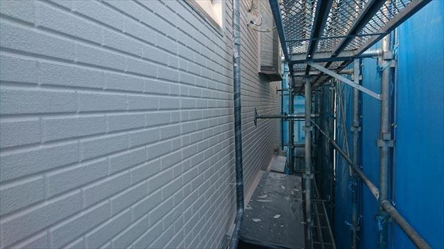 松本市ALC外壁中塗り1