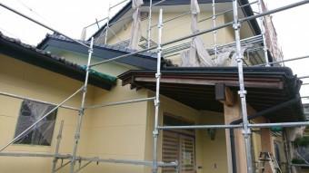 長野県駒ヶ根市 ALC外壁塗装中塗り