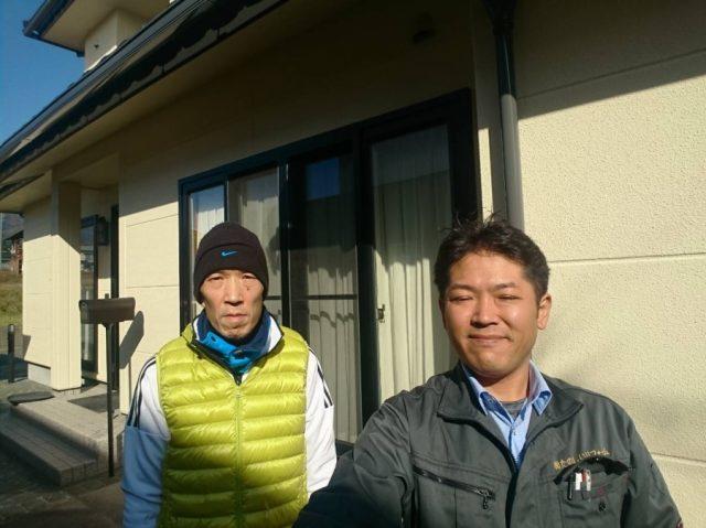 飯田市大瀬木の前島成好様邸のALC外壁塗装工事をしました。サンワホームのお宅で、現もりぞう様のお宅です。