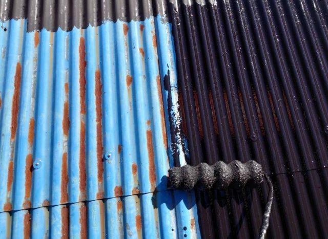 下伊那郡天龍村にてトタン屋根の塗装工事を行いました