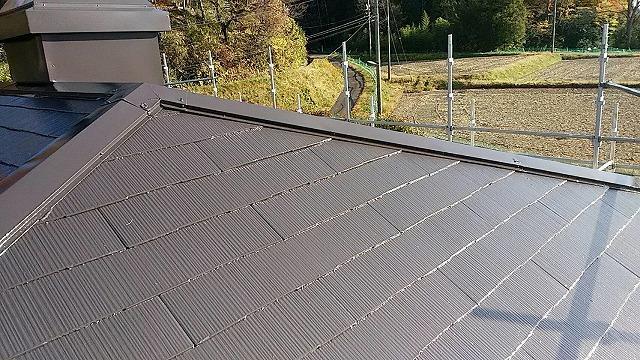 屋根塗装完成しました