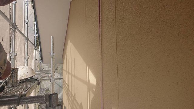 下條村陽皐 外壁塗装 中塗り2