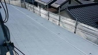 飯田市駄科アパート屋根下塗り3
