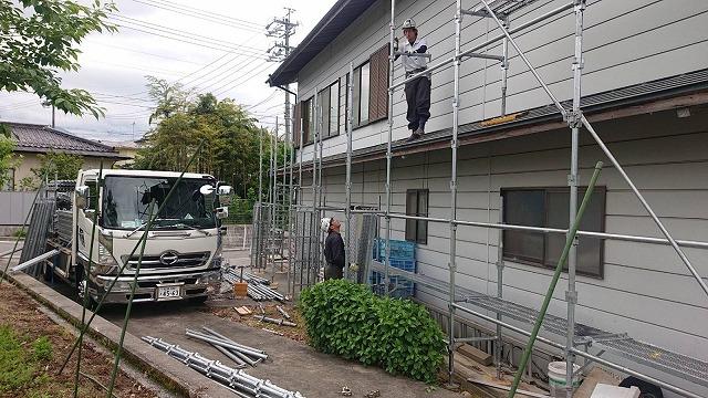 飯田市長野原トタン屋根塗装現調1