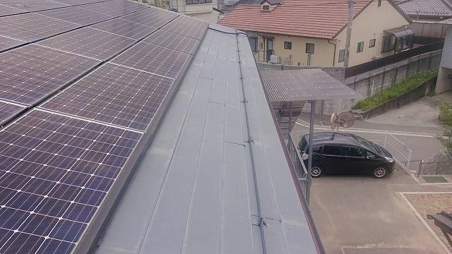 飯田市長野原トタン屋根塗装現調5