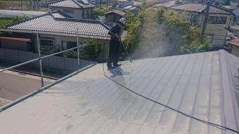 飯田市長野原トタン屋根洗浄2