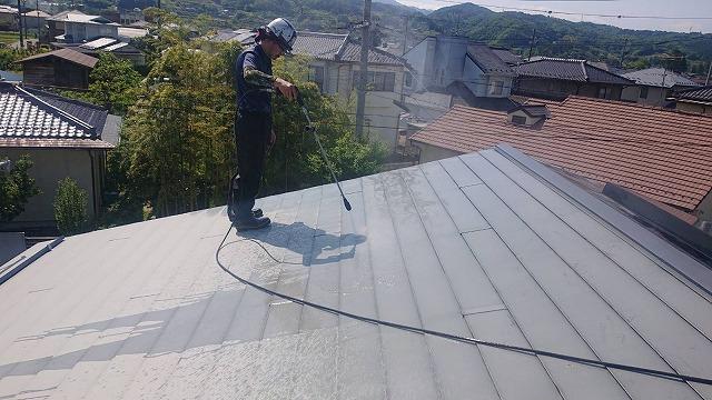 飯田市長野原トタン屋根洗浄8