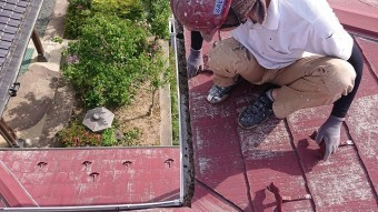 飯田市時又コロニアル屋根塗装1