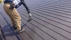 飯田市長野原トタン屋根上塗り1