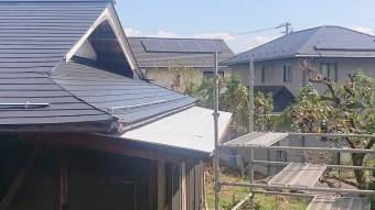 飯田市北方屋根葺き替え塗装下塗り3