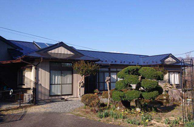 中川村トタン屋根塗装_afeter