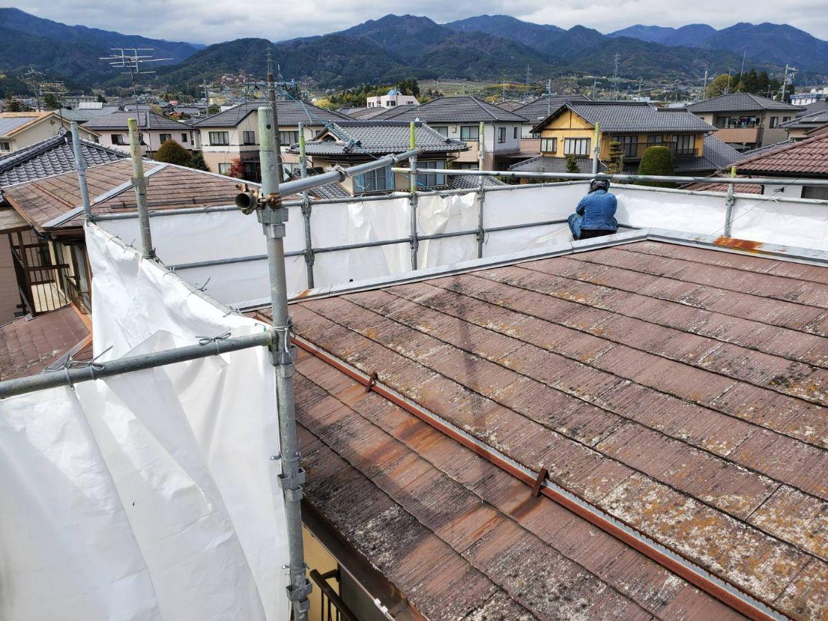 屋根材撤去1
