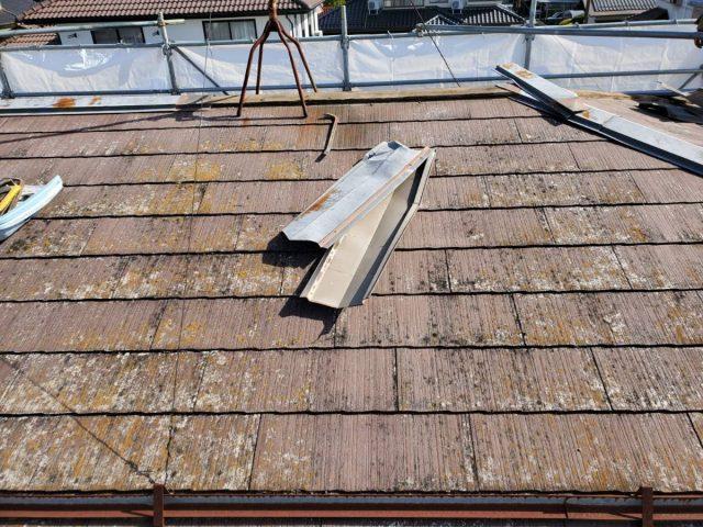 屋根材撤去3