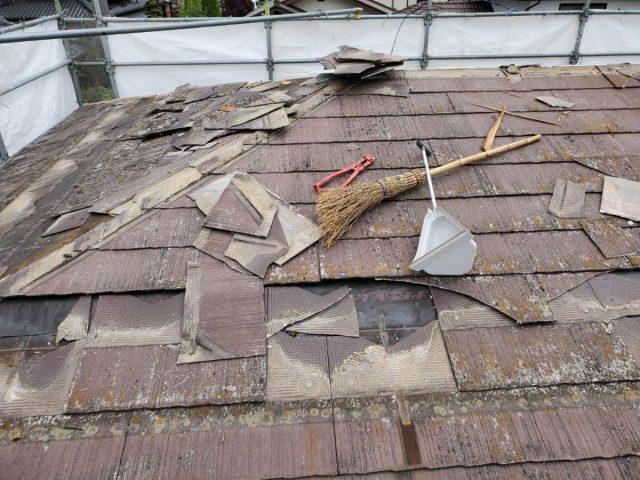 屋根材撤去2