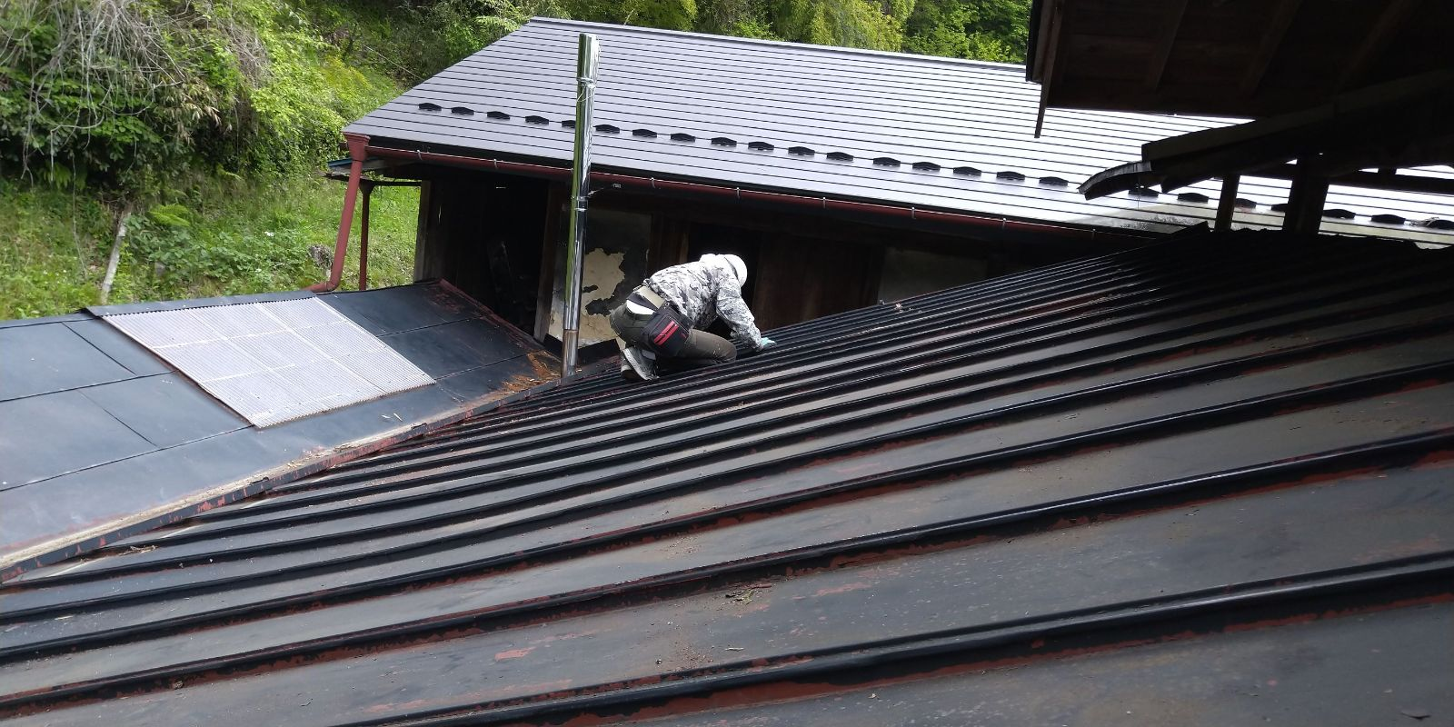 下條屋根塗装_ケレン
