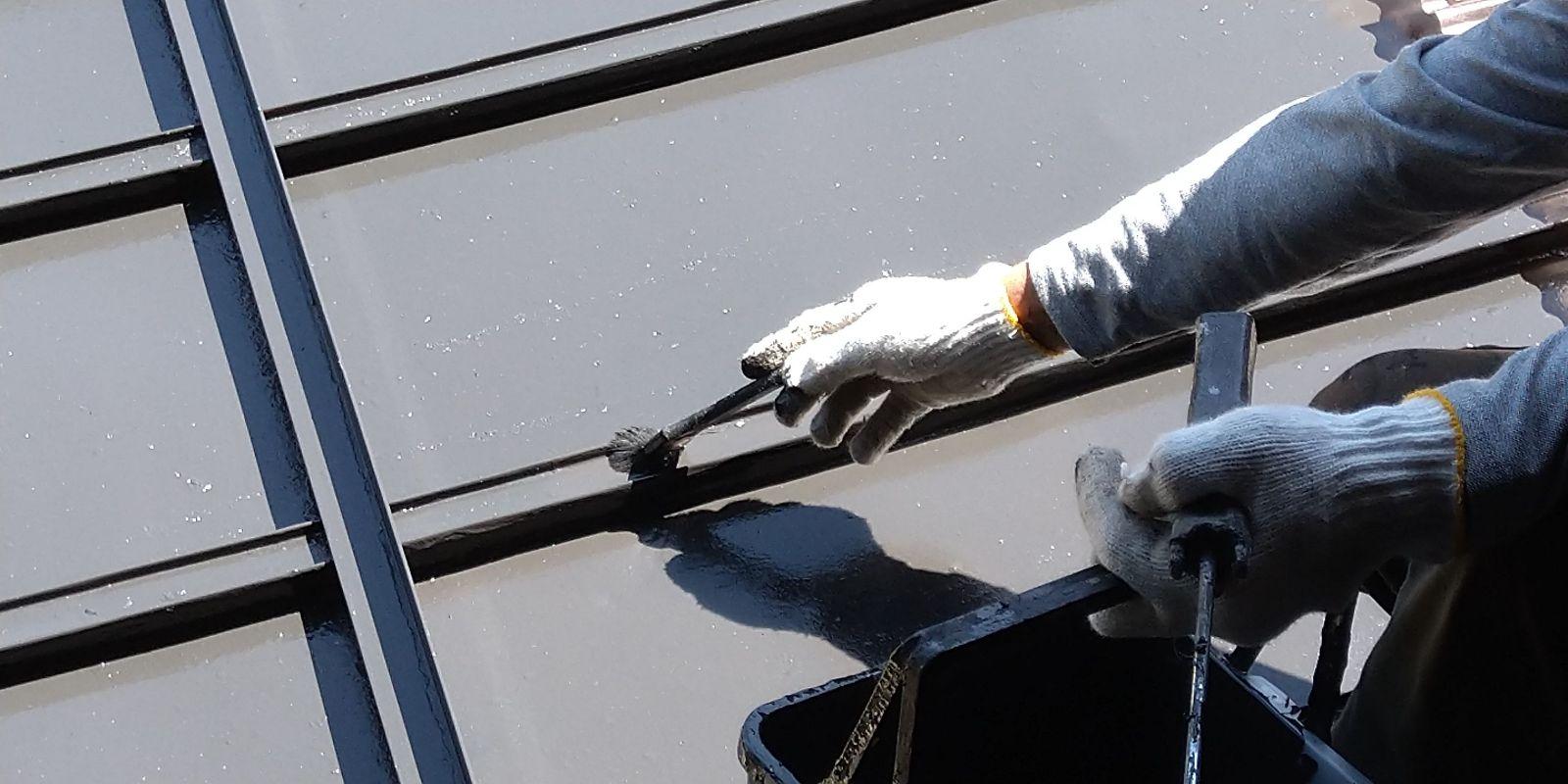 下條屋根塗装_上塗り3