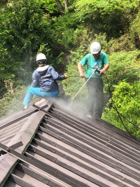屋根洗浄3