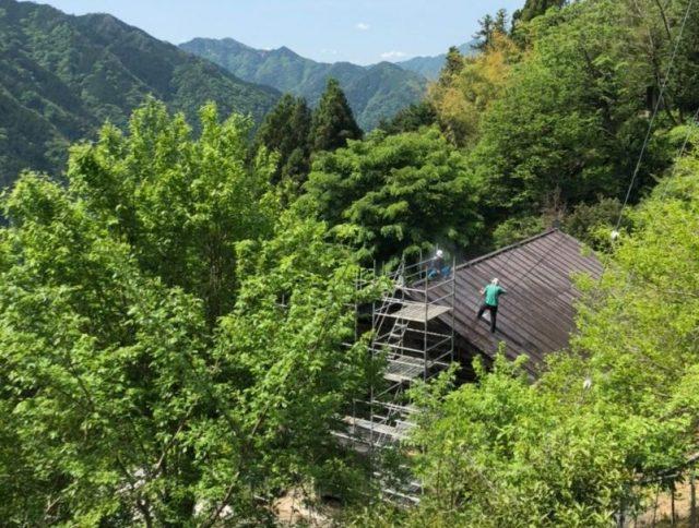 屋根洗浄1