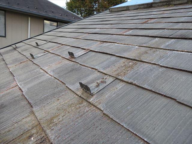 屋根上点検しています