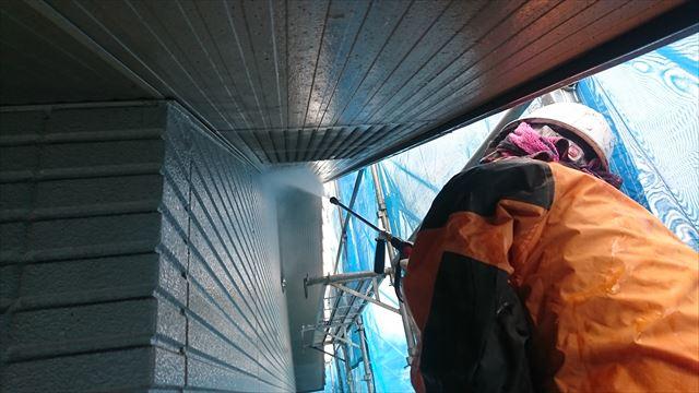 飯田市龍江サンワ外壁洗浄3