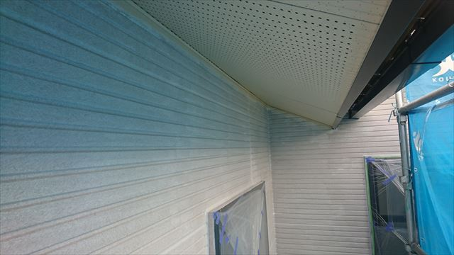 長野県飯田市龍江サンワホーム外壁下塗り2