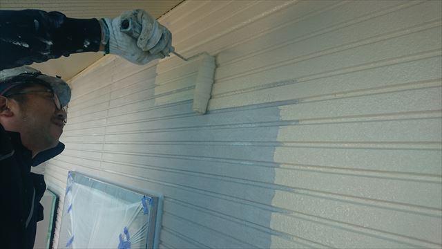 長野県飯田市龍江サンワ外壁中塗り4