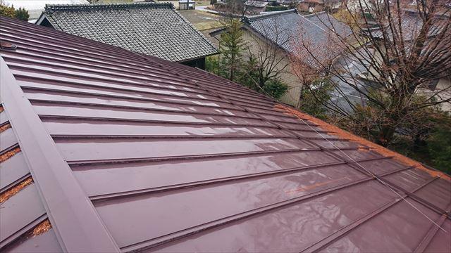 宮田村トタン屋根塗装洗浄1