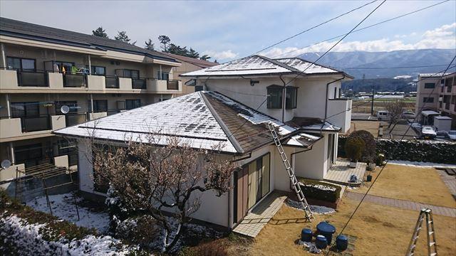 長野県塩尻外壁屋根カバー足場1