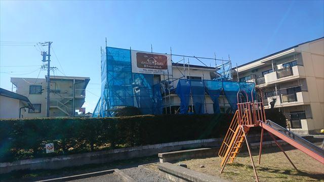 長野県塩尻外壁屋根カバー足場4