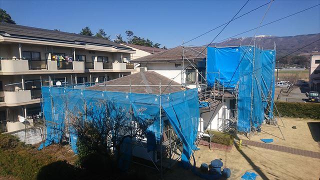長野県塩尻外壁屋根カバー足場5