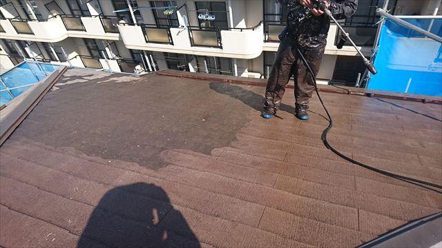 塩尻市外壁塗装屋根カバー洗浄3