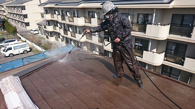 塩尻市外壁塗装屋根カバー洗浄1