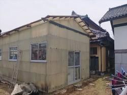 長野県飯島町農業用ポリカ外壁交換1