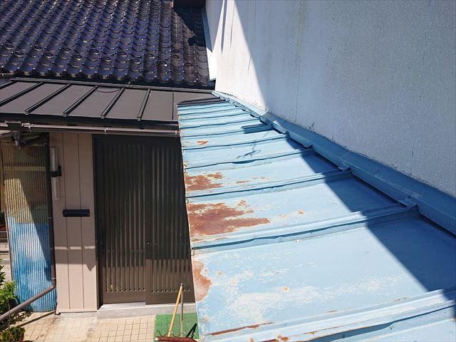 長野県宮田村・霧除け・トタン・外壁塗装現状6