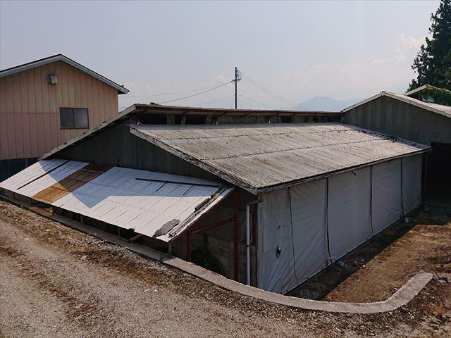 長野県飯島町牛舎解体16