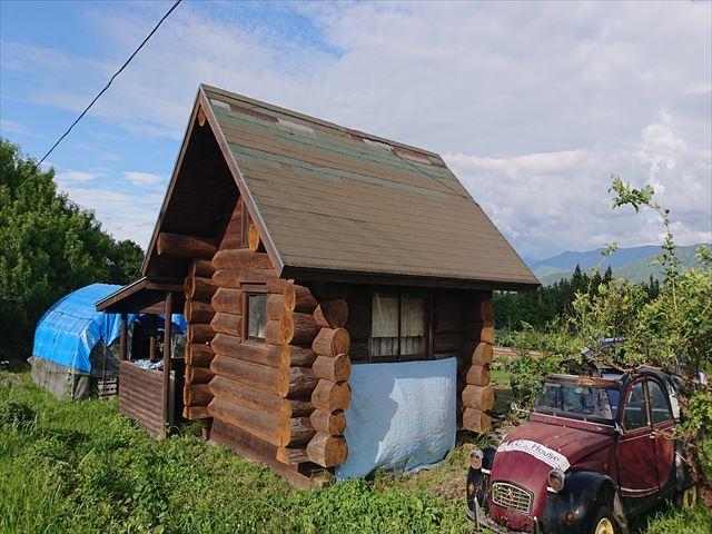 長野県飯島町ログハウス丸太外壁修繕1