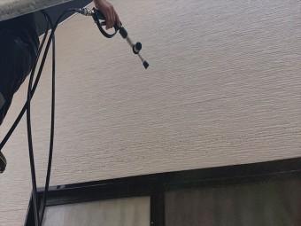 長野県駒ヶ根市外壁屋根塗装工事洗浄2