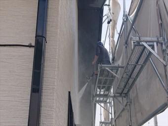 長野県駒ヶ根市外壁屋根塗装工事洗浄5