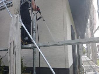 長野県駒ヶ根市外壁屋根塗装工事洗浄6