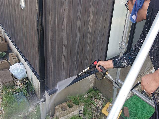 長野県駒ヶ根市外壁屋根塗装工事洗浄7