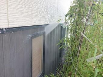長野県駒ヶ根市外壁屋根塗装工事洗浄8