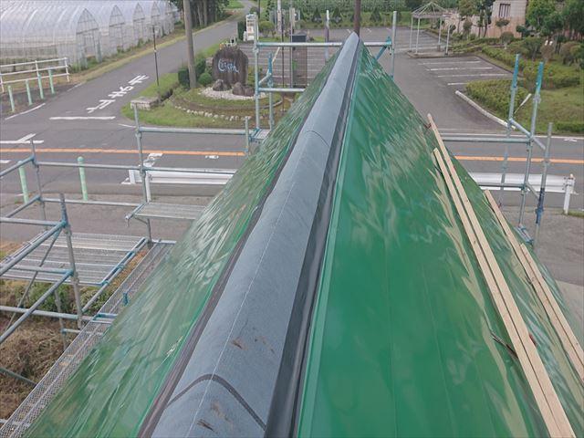 長野県飯島町ログハウス屋根板金カバー7