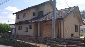 長野県下條村外壁塗装サンワ現状2