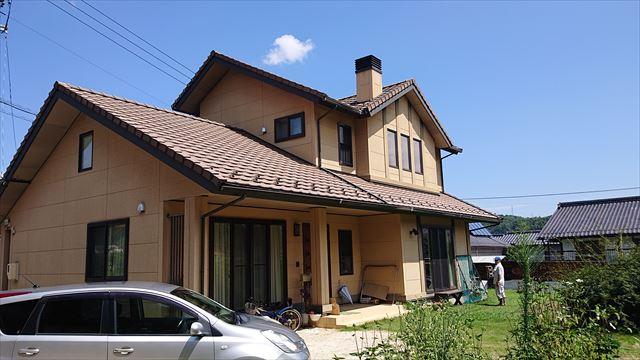長野県下條村外壁塗装サンワ現状1
