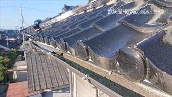 長野県駒ヶ根市雨樋交換・外壁塗装現状8
